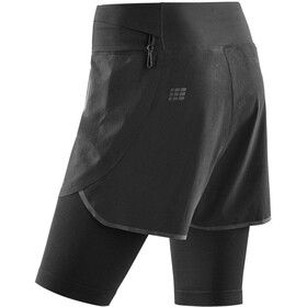 cep 3.0 Short de running 2in1 Femme, black/black